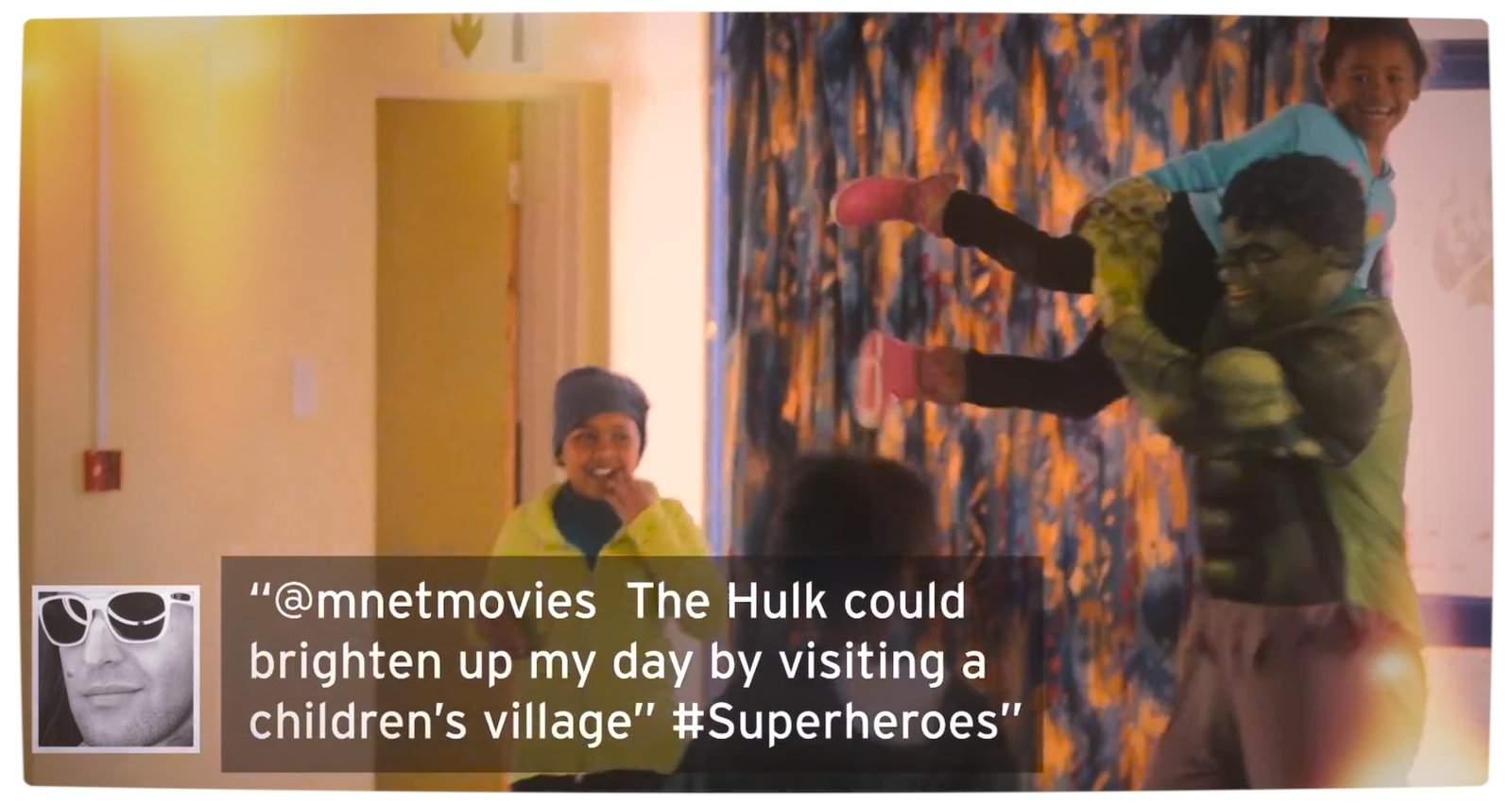 Vamers - FYI - TV - Superheroes Help Brighten South African Cities - The Hulk visits a Childrens Village Proper