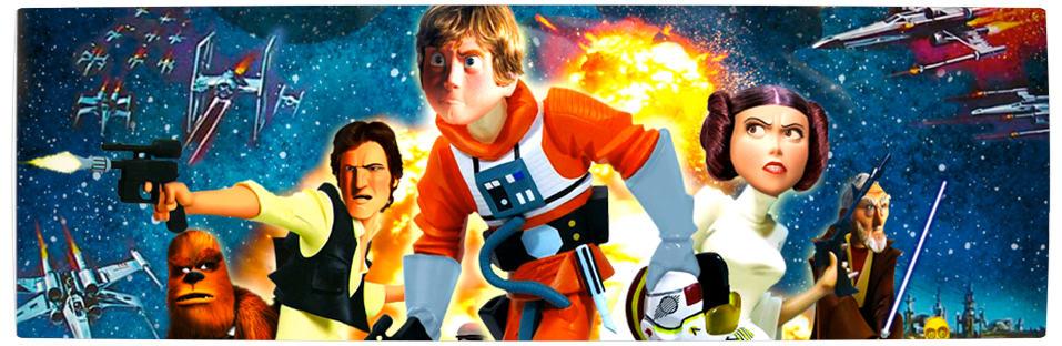 Vamers - Artistry - Star Wars as if it had been created by Pixar - Pixar Wars Banner