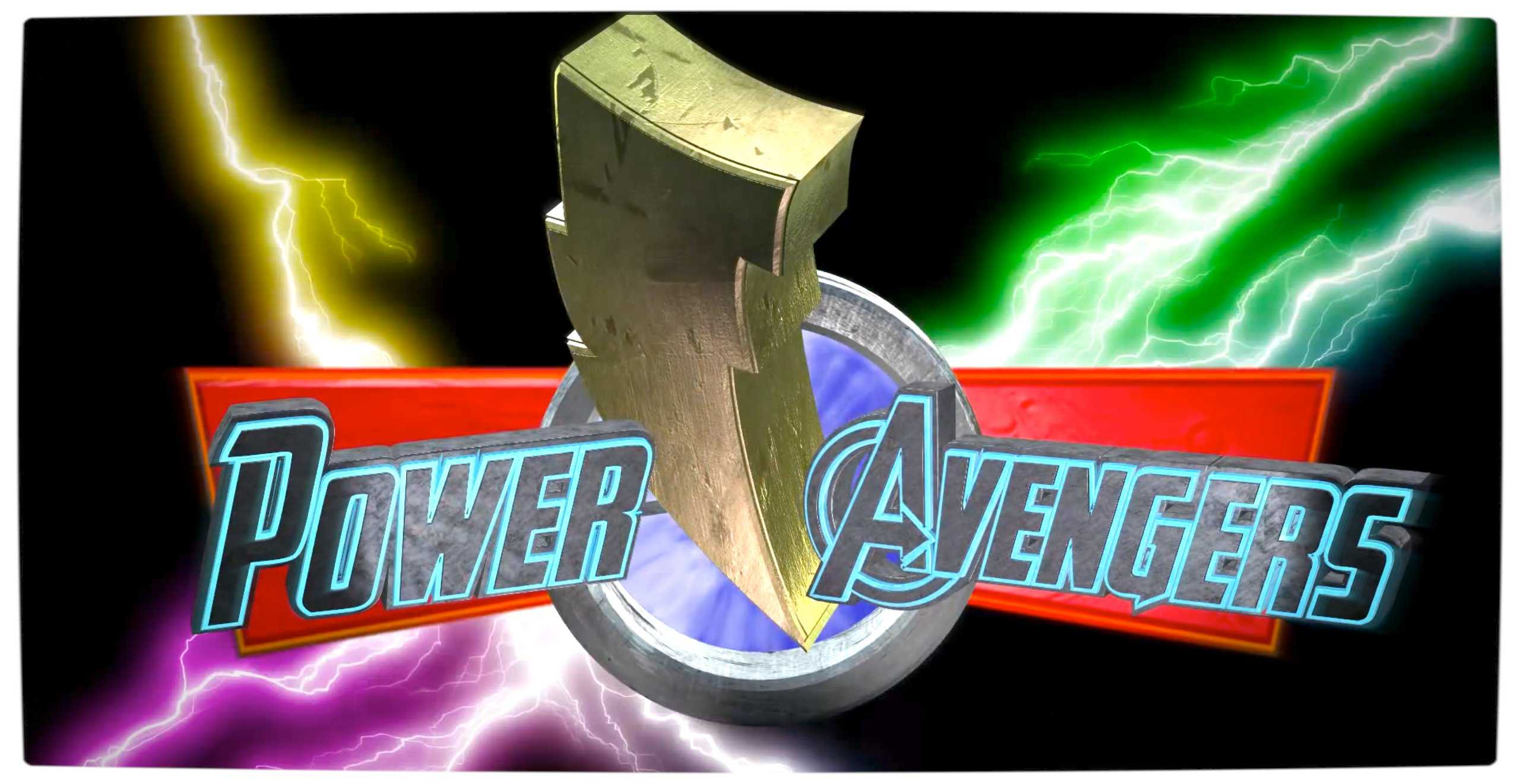 Vamers - Ermahgerd - Power Rangers Meets The Avengers - Power Avengers Title
