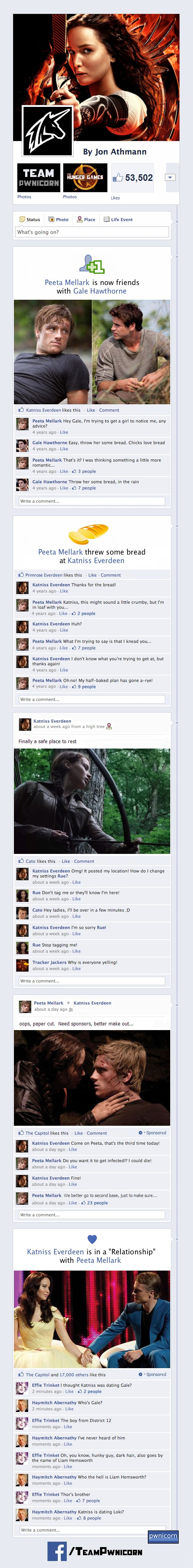 Vamers - Humour - What if the Characters from The Hunger Games had Facebook - Full