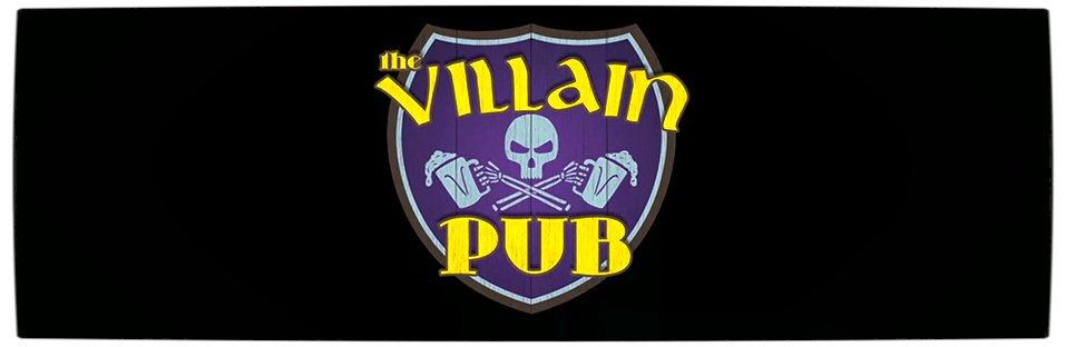 Vamers - Geekosphere - Loki's shares a Pint with Some Villains on Puza Thorsday - The Villain Pub Logo