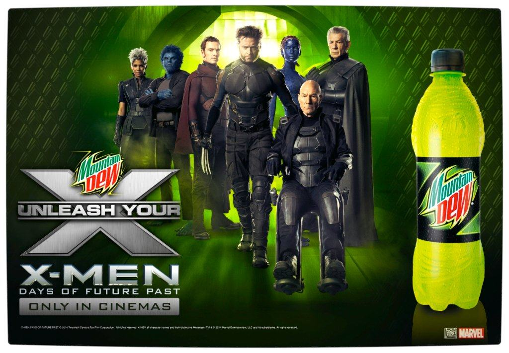 Vamers - FYI - Movies - Mountain Dew wants to Rock Your World through X-Men Days of Future Past - Main Promo Image