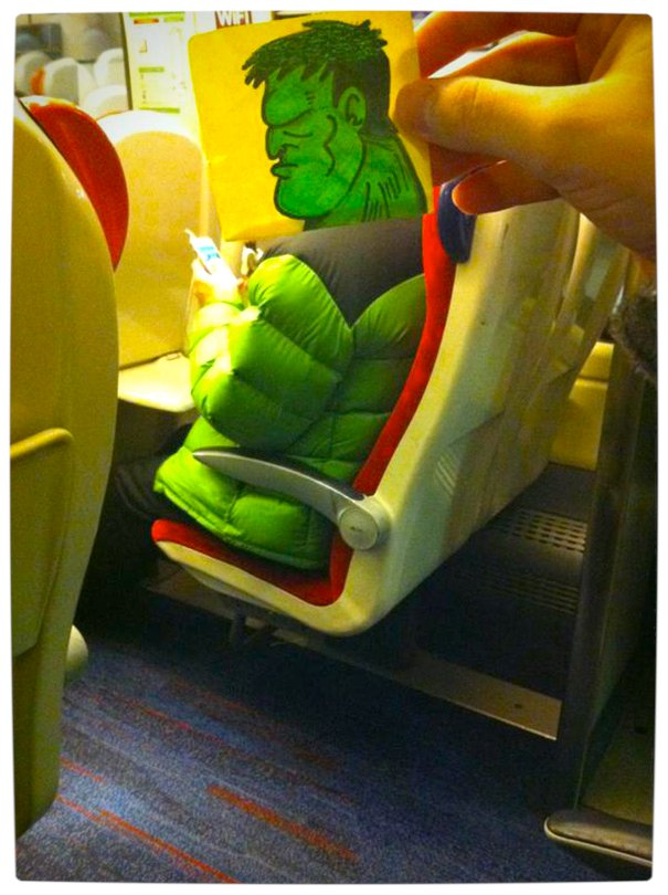 Vamers - Artistry - Illustrator Turns Fellow Commuters Into Cartoon Characters - October Jones - Joe Butcher - The Hulk