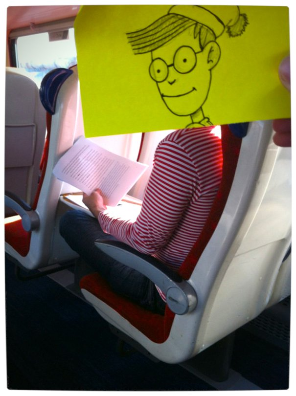 Vamers - Artistry - Illustrator Turns Fellow Commuters Into Cartoon Characters - October Jones - Joe Butcher - Where's Wally Waldo