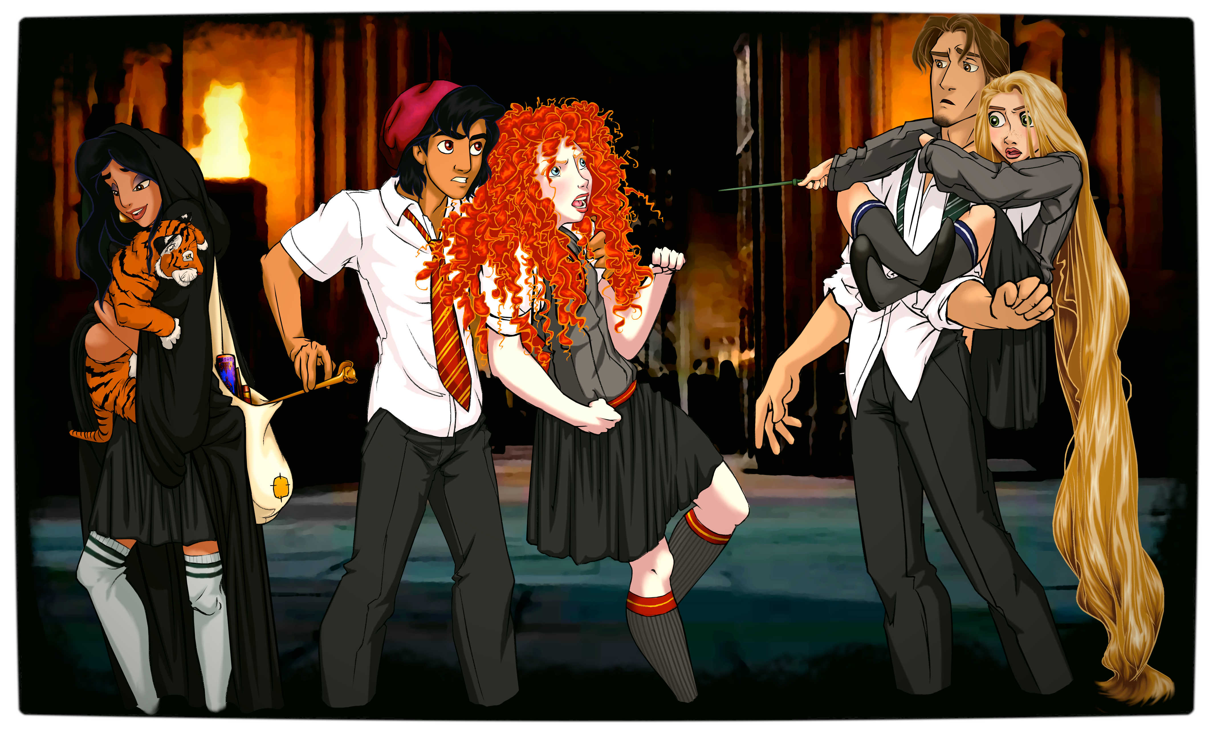 Vamers - Artistry - Mash-Up - 'Disney at Hogwarts' Imagines Disney Royalty as Harry Potter's Peers - Art by Eira1893 - Disney at Hogwarts 03