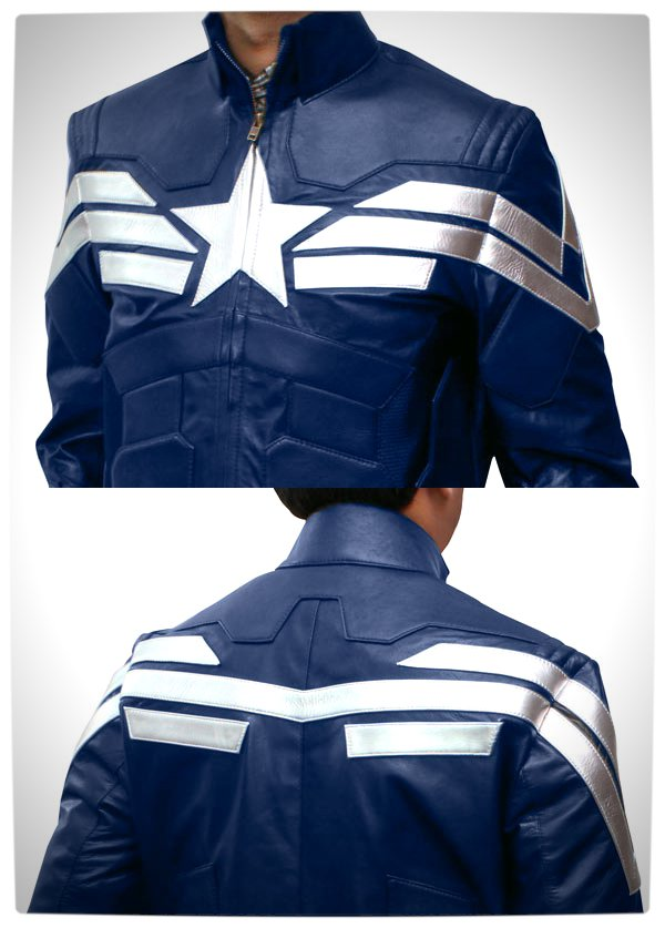 Vamers - Geek Chic - Look like Captain America with this Winter Soldier Jacket - Full Jacket Front and Back