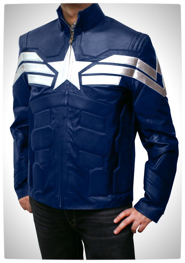 Vamers - Geek Chic - Look like Captain America with this Winter Soldier Jacket - Full Jacket Front