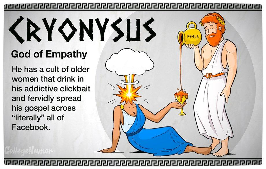 Vamers - Geekosphere - The Gods and Goddesses of the Internet Pantheon - Cryonysus
