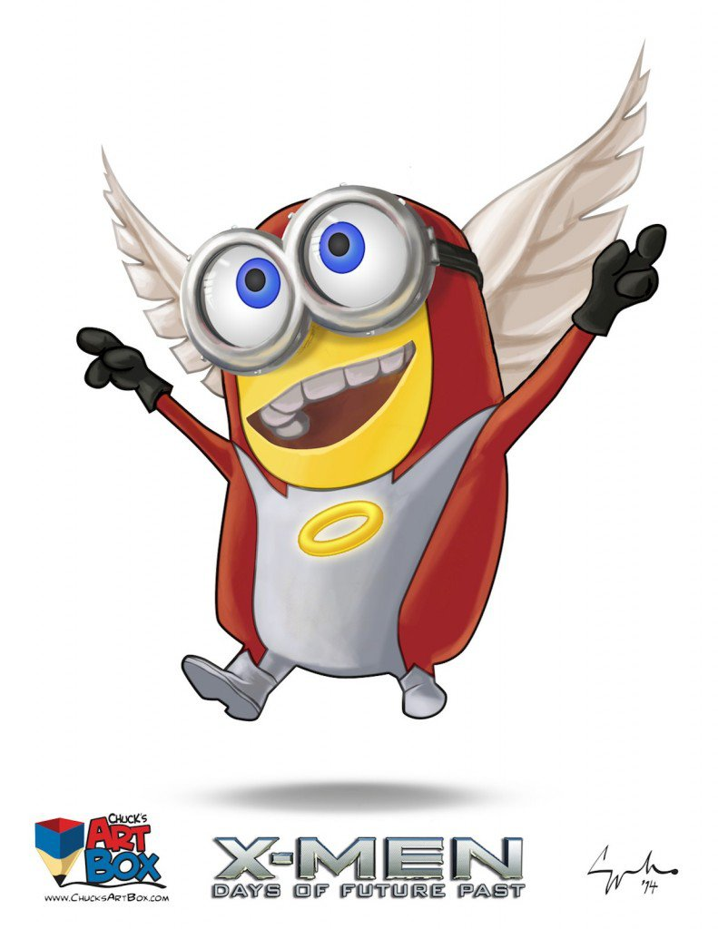 Vamers - Artistry - X-MINIONS Days of Future Past - Despicable Me Minions as X-MEN - Angel
