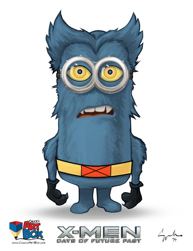 Vamers - Artistry - X-MINIONS Days of Future Past - Despicable Me Minions as X-MEN - Beast