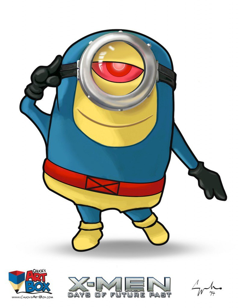 Vamers - Artistry - X-MINIONS Days of Future Past - Despicable Me Minions as X-MEN - Cyclops