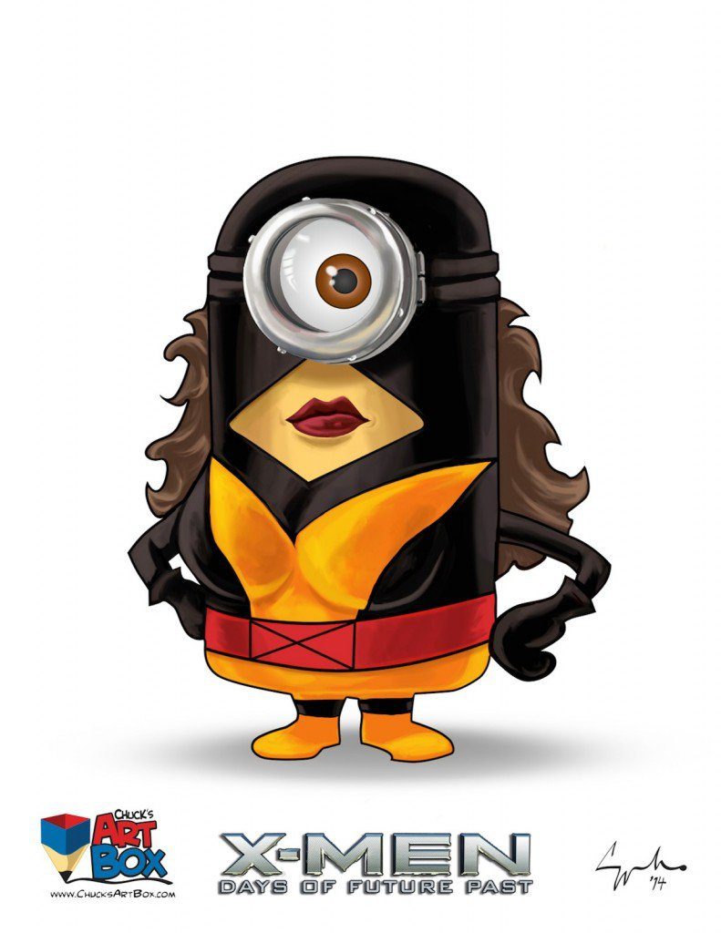 Vamers - Artistry - X-MINIONS Days of Future Past - Despicable Me Minions as X-MEN - Jean Grey
