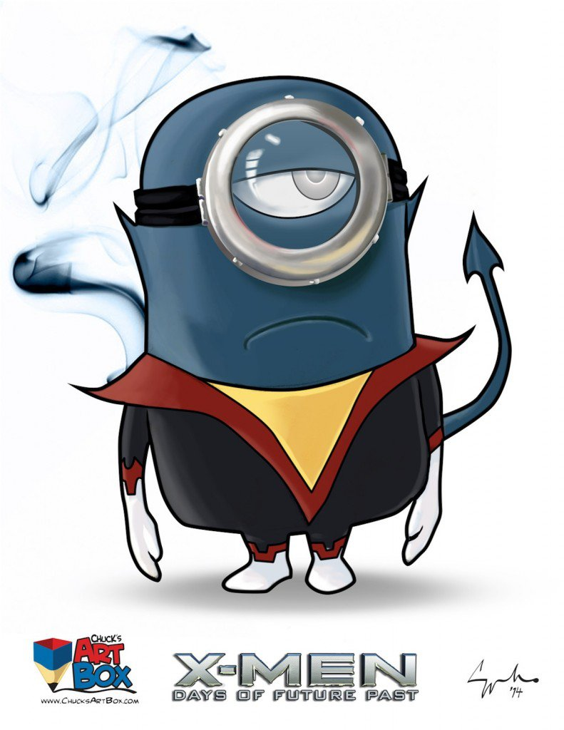 Vamers - Artistry - X-MINIONS Days of Future Past - Despicable Me Minions as X-MEN - Nightcrawler