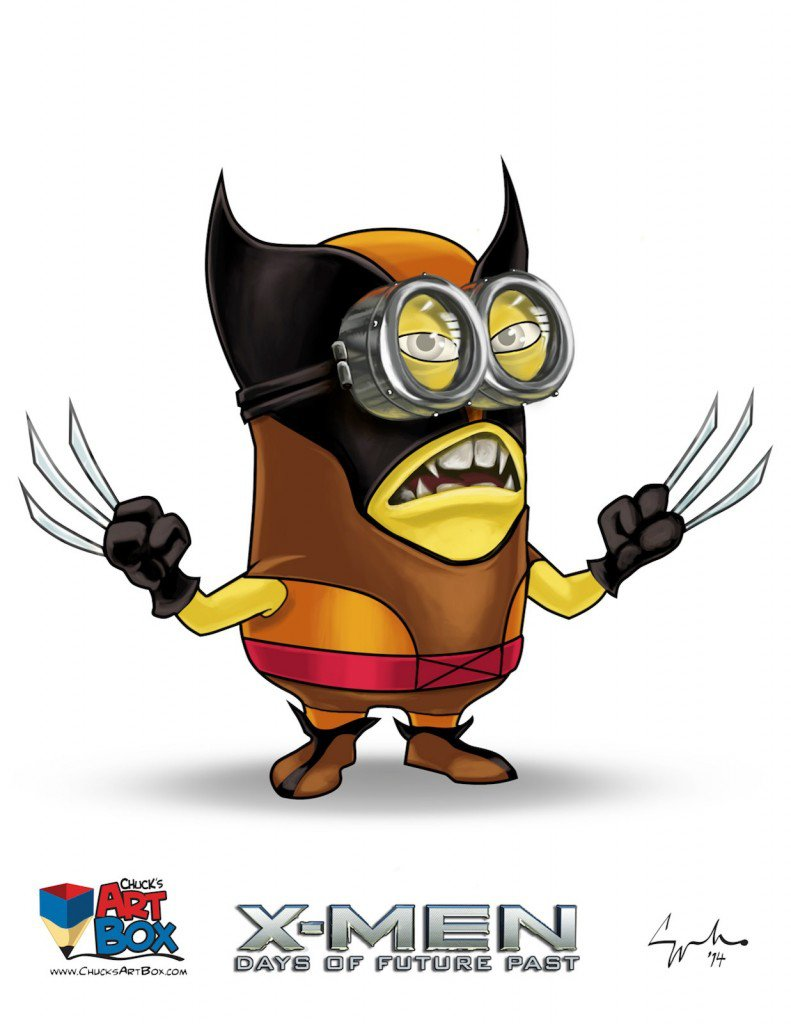 Vamers - Artistry - X-MINIONS Days of Future Past - Despicable Me Minions as X-MEN - Wolverine