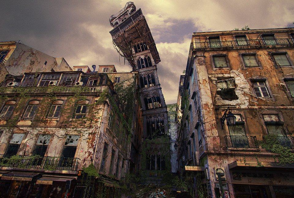 Vamers - Artistry - The World of The Last of Us- Envisioning a Post Apocalyptic Future - Santa Justa Lift Apocalypse
