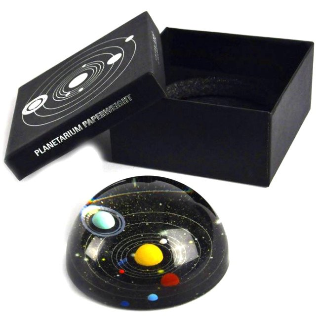 Vamers - Geekmas Gift Guide - Kikkerland Planetarium Paper Weight