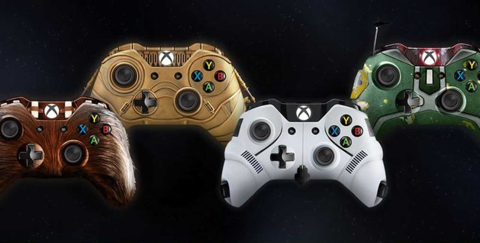 Microsoft Teases Xbox One Owners with Stunning Star Wars Controllers