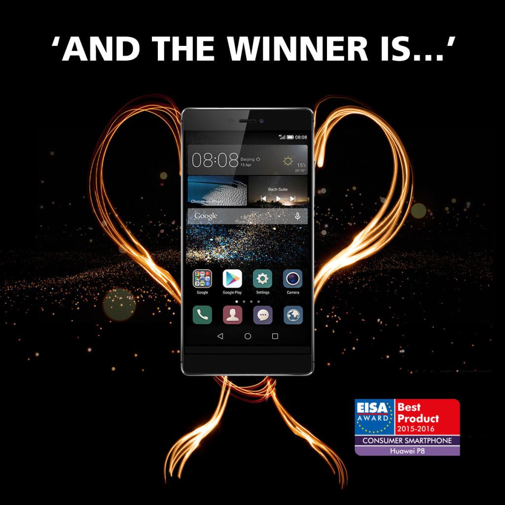 Vamers - FYI - Gadgetology - EISA Crowns the Huawei P8 as 2015's Best Consumer Smartphone - Award Image