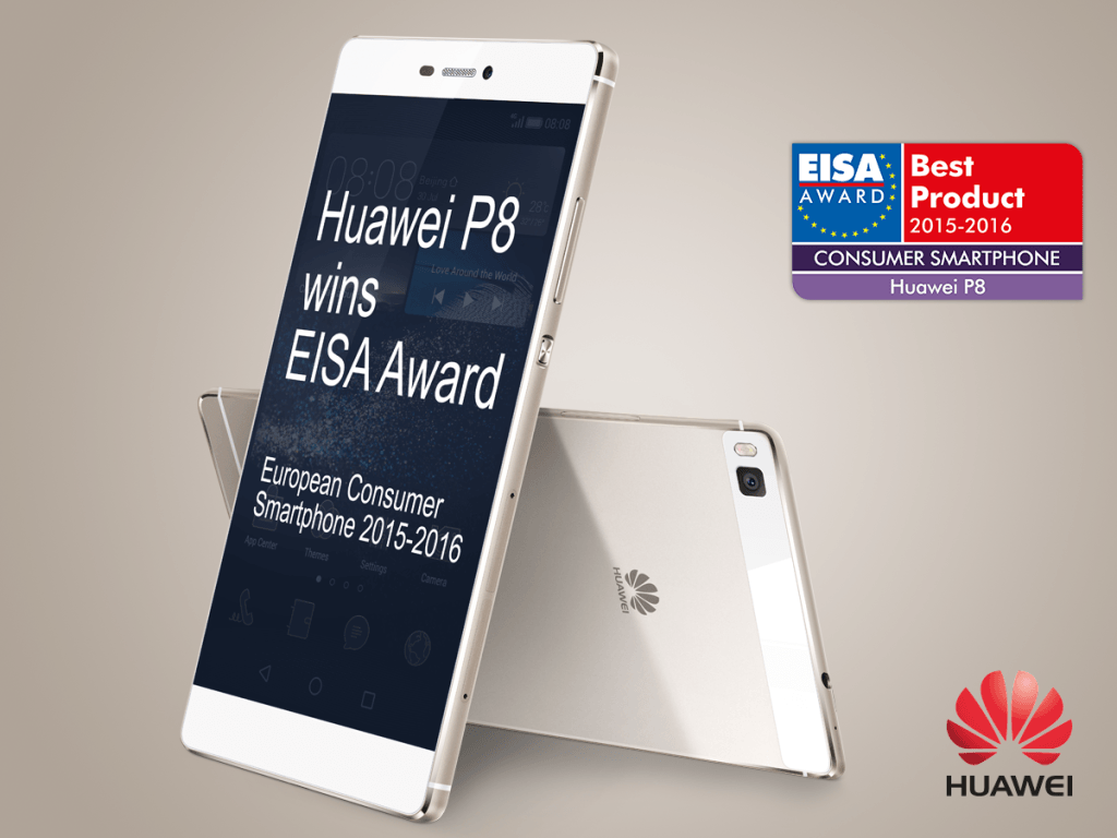 Vamers - FYI - Gadgetology - EISA Crowns the Huawei P8 as 2015's Best Consumer Smartphone - Banner 01