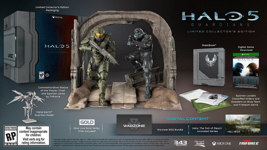 Vamers - FYI - Gaming - Halo 5- Guardians Limited Collector's Edition Detailed and Where to Buy - Halo 5 Guardians Limited Collector's Edition Details