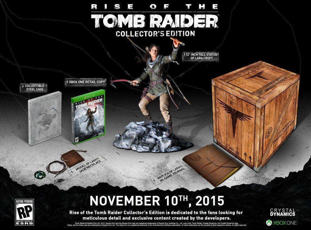 Vamers - FYI - Gaming - Rise of the Tomb Raider Collector's Edition Detailed - Collector's Edition Details