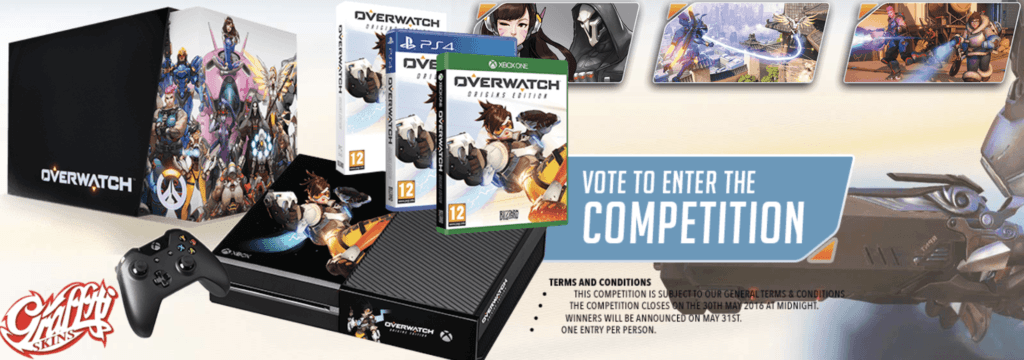 Vamers - FYI - Gaming - Win a Custom Overwatch Xbox One Console - Competition Details