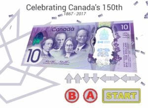 Canada's Geek Game is Strong, Adds the Konami Code to its $10 Bill Website
