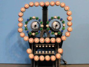 Creepy LEGO Automaton Sugar Skull is Impressive