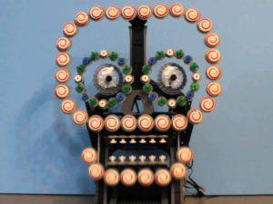 Creepy LEGO Automaton Sugar Skull is Impressive