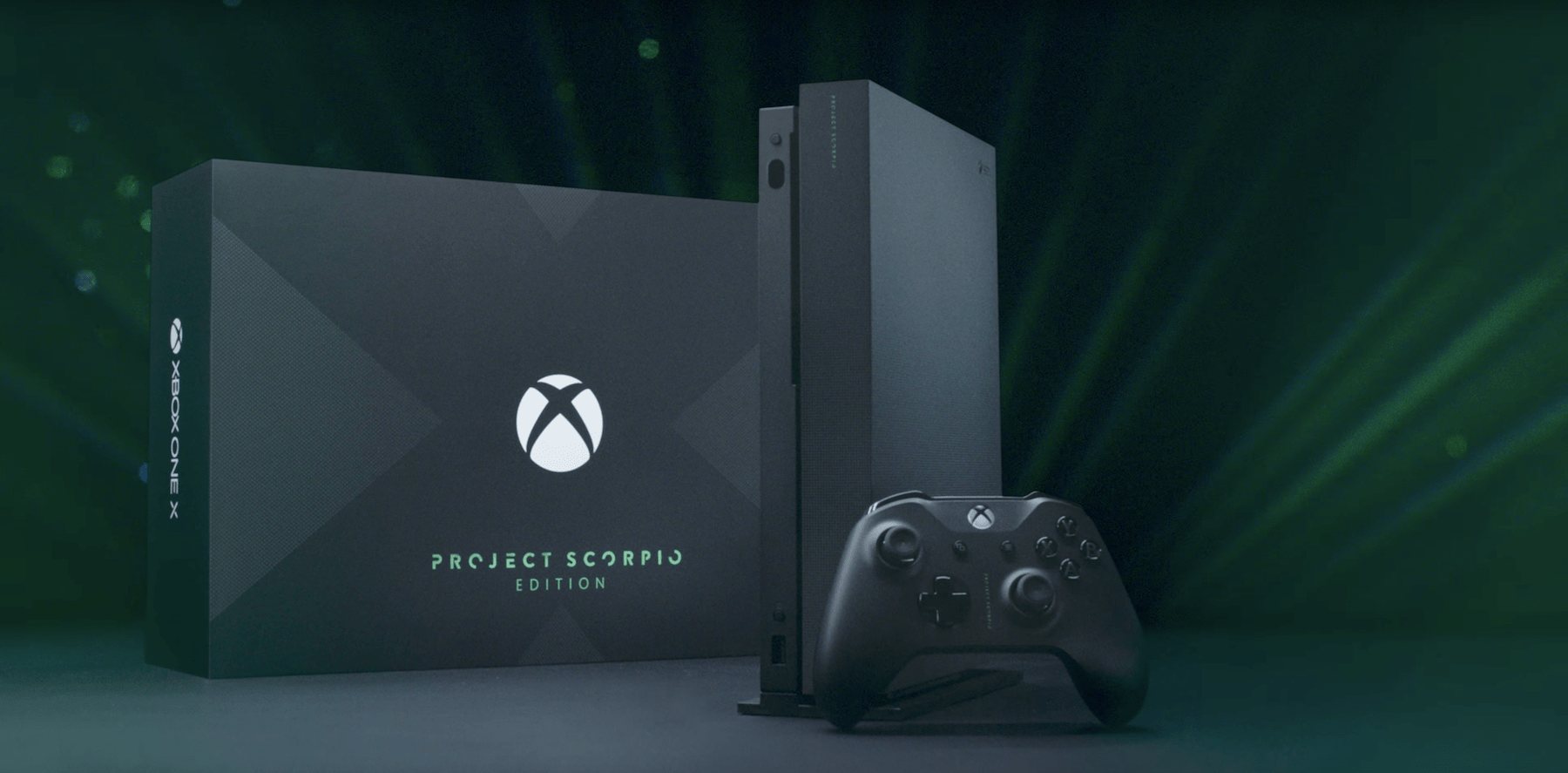 xbox one x project scorpio edition revealed and pre orders. Black Bedroom Furniture Sets. Home Design Ideas