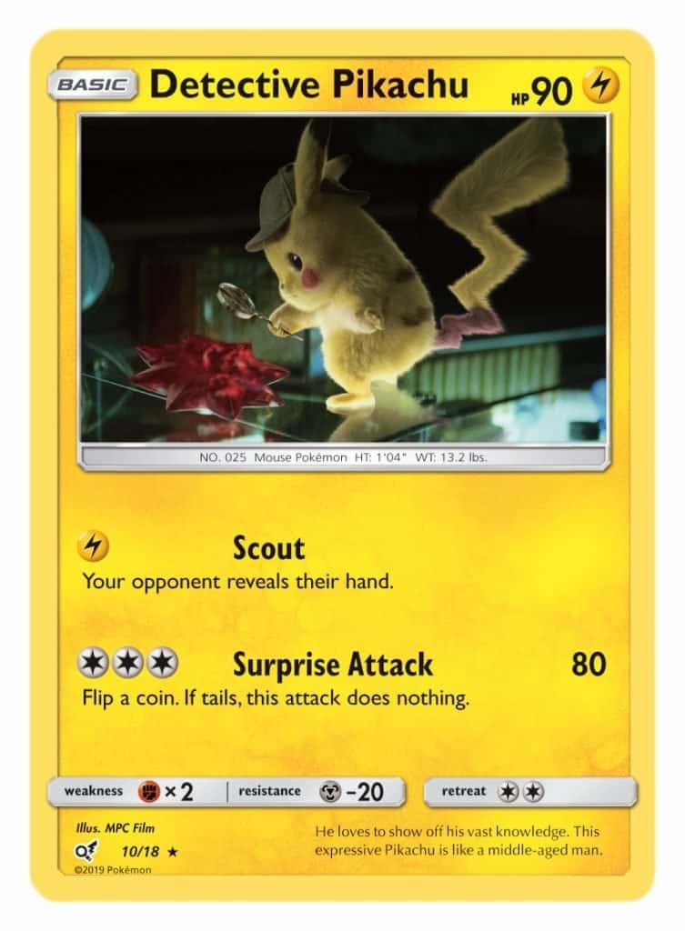 Pokémon TCG Detective Pikachu Cards